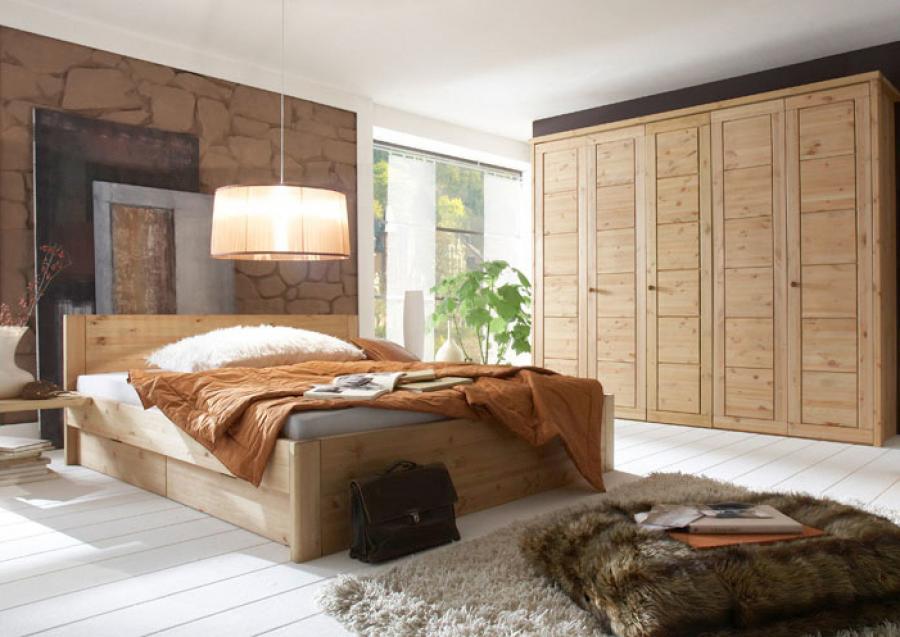 Massief houten bed odin 140 x 200 cm beuken netbed - Massief houten platform bed ...