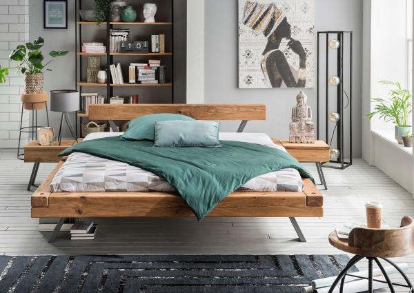 Massief houten bed nils comfort 140 x 200 cm beuken netbed - Massief houten platform bed ...