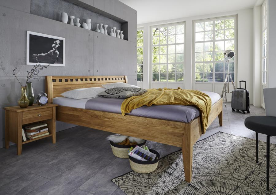 Massief houten bed nils 140 x 200 cm beuken netbed - Massief houten platform bed ...