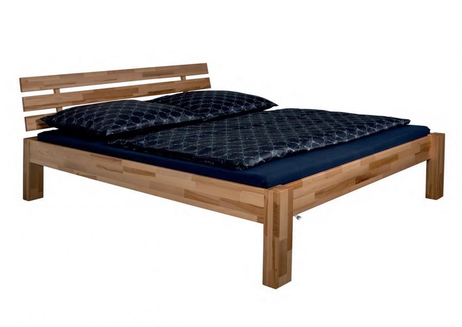 Massief houten bed sigrid 140 x 200 cm eiken netbed - Massief houten platform bed ...