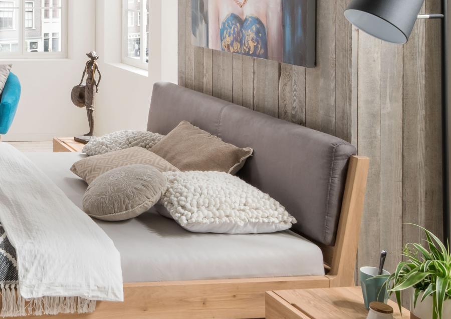Massief houten bed olaf 140 x 200 cm beuken vertikaal netbed - Massief houten platform bed ...